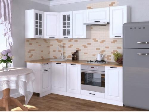 Кухонный гарнитур угловой Белый вегас 2400х1000
