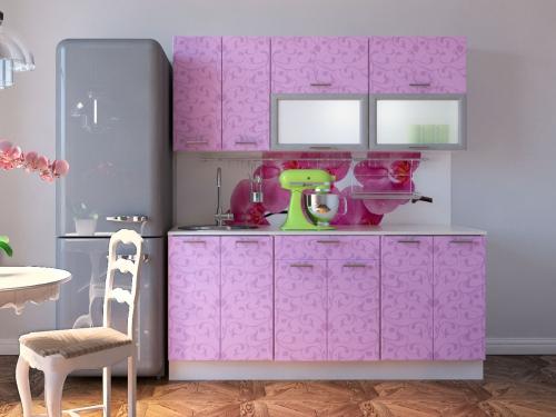 Модульная кухня Комфорт ирис цветы