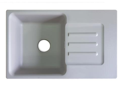 Мойка врезная Екром GF-SM 685L Белый